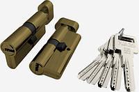 Цилиндровый механизм с вертушкой Fuaro R602/70 mm (30+10+30) AB бронза 5 ключей