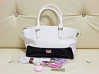 Женская сумка Cidirro белая c черным