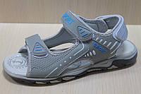 Серые открытые подростковые босоножки, сандалии для мальчика тм Tomm р.33,34,36,37