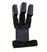 Перчатка для стрельбы из лука, высококачественная натуральная кожа, замш, цвет черный