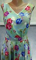 Женское платье в пол 3D рисунок