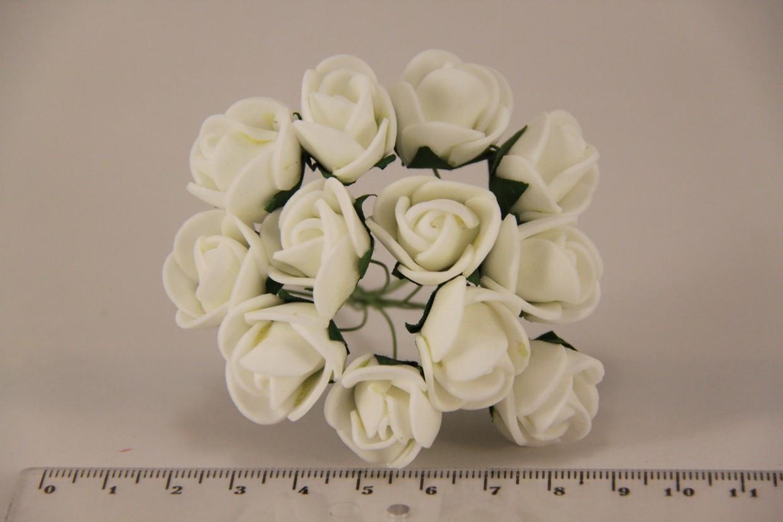 Роза мелкая искусственная белая (букет) 5632-1-3-1 - Продавайка в Харькове