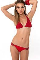 Красный купальник Victorias Secret с оригинальным узором VS0148