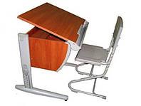 Стол СУТ.14 яблоня/серый