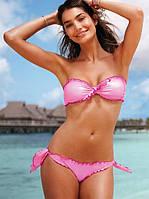 Купальник Victorias Secret розового цвета с рюшами VS0256