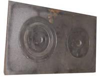 Плита чугунная 2-х конфорочная