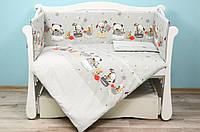 Комплект детского постельного белья на кроватку для новорожденного Baby animals