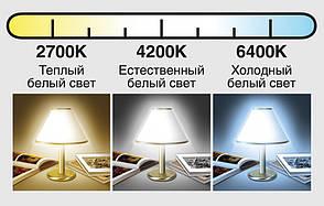 Врезной светильник (квадрат, 11см, 4W, холодный свет), фото 2