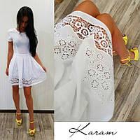 Красивое платье с прошвой по низу