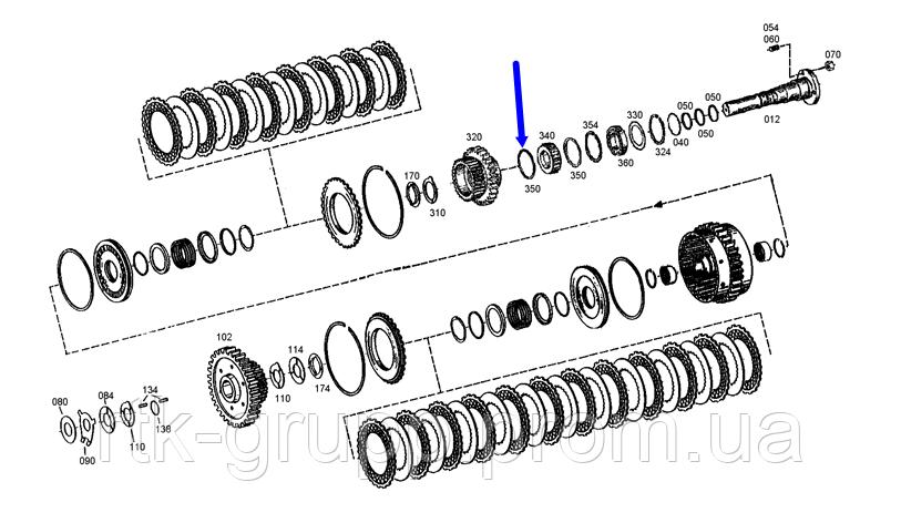 Кольцо тефлоновое КПП ZF.0501308830