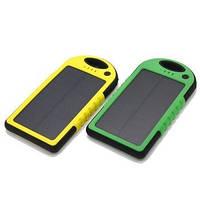 Внешний аккумулятор на солнечной батарее Solar power bank 5000 mah (для телефона, смартфона, планшета)