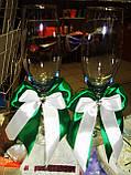 Украшения для свадебных бокалов Бантики, фото 3