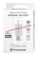 USB накопитель TS32GJDG300S 32Gb JetDrive Go 300, Lightning + USB3.1, Silver (TS32GJDG300S)