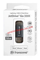 USB накопитель TS32GJDG300K 32Gb JetDrive Go 300, Lightning + USB3.1, Black (TS32GJDG300K)