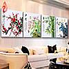 Картина для рисования камнями стразами Diamond painting Алмазная вышивка Сакура, Орхидея, Бамбук