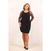 Женское коктейльное платье Маргарет цвет черный размер 48-72