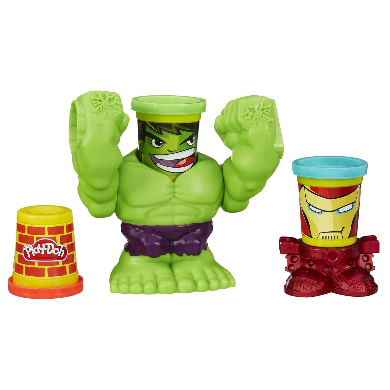 Play-Doh Игравой набор Битва Халка Smashdown Hulk Featuring Marvel Can-Heads