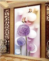 Картина для рисования камнями стразами Diamond painting Алмазная вышивка Фиолетовые цветы и бабочки