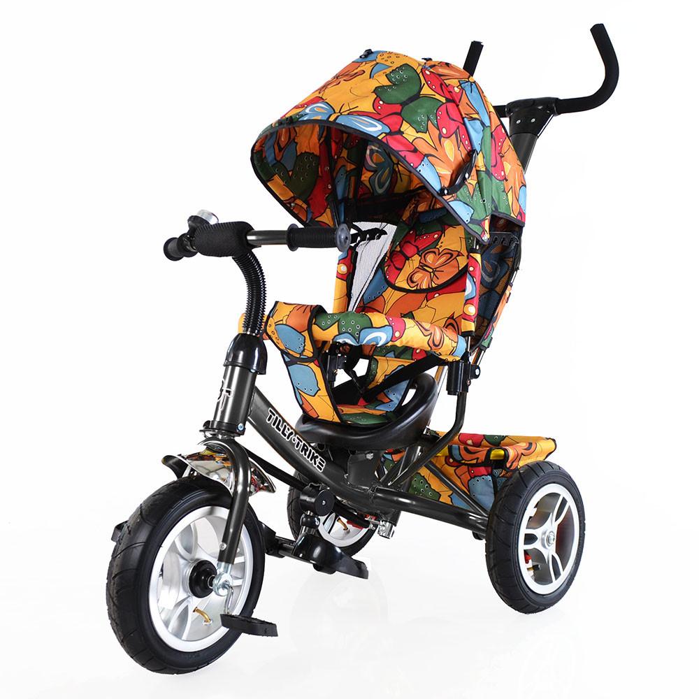 Велосипед трехколесный TILLY Trike T-351-7 ГРАФИТОВЫЙ с большими надувными колесами