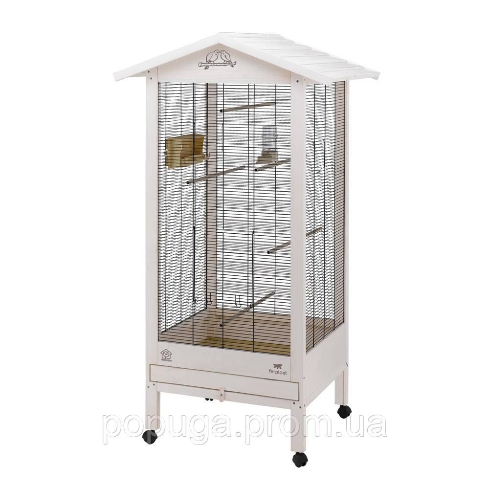 Деревянный вольер для канареек и маленьких птиц Ferplast HEMMY LARGE 108* 66*165 см