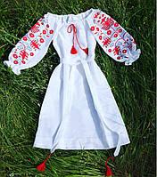 Вышитое платье лето