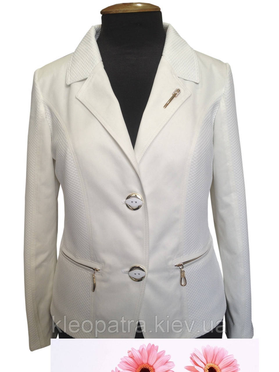 Женский летний пиджак батал