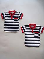 Детская рубашка Крупная полоса Размер 98 - 116 см