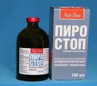 Пиро-стоп 12% п/бабезий (имидокарб) 100мл.