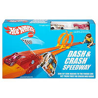 хот вилс автотрек  Даш энд Краш Hot Wheels Retro Dash & Crash Speedway Trackset