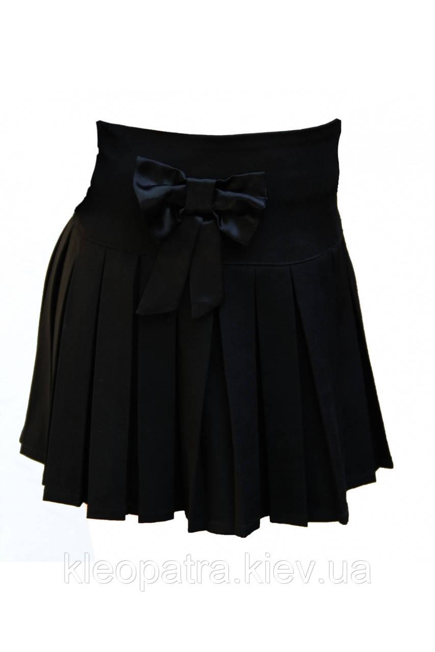 Школьная юбочка для девочки Бантик
