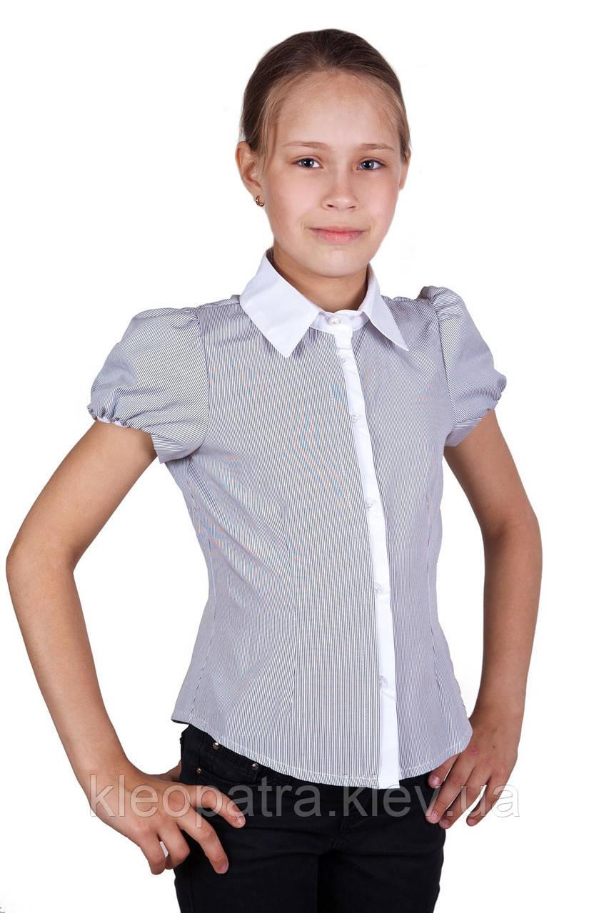 Школьная блузочка в полосочку для девочки
