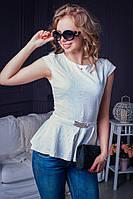 Модная женская блуза с баской