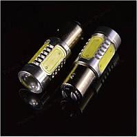 LED лампи DRL ДХО, задніх ліхтарів P21/5W 7,5 W з лінзою, фото 1