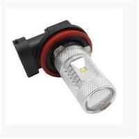 DRL ДХО LED лампы диодные H8 H11 30W с линзой, фото 1