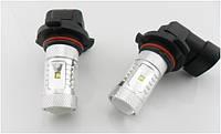 DRL ДХО LED лампы диодные HB3 30W с линзой