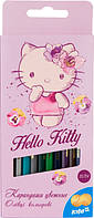 Карандаши цветные двухсторонние (12 шт) KITE 2016 Hello Kitty  054