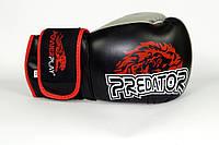 Боксерские перчатки с дополнительным уплотнением Lion Predator Serits Power Play черный