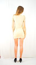 Клубное модное молодежное платье из шифона с оригинальным жабо., фото 3