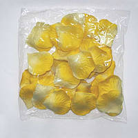 Лепестки роз искусственные (желто-белые) 600 шт, фото 1