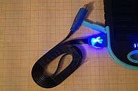 Кабель USB на microUSB, светящийся, 1 метр