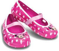 Балетки крокс crocs Girls' Keeley Minnie Flat