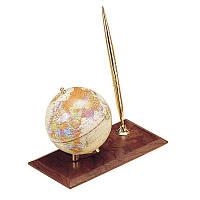 Глобус настольный на деревянной подставке с ручкой