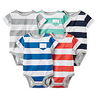 Детские бодики Carter's для мальчика (5 шт)   3, 6, 18, 24 месяца