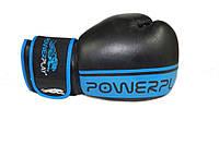 Кожаные боксерские перчатки Power Play синий