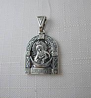 """Серебряная подвеска ладанка """"Божья Матерь Остробрамская"""", фото 1"""
