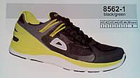Мужские кроссовки повседневные беговые Veer Demax черный с желтым сетка недорого летние 7 км 1489|01656