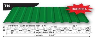 """Профнастил «Прушиньски» 0,45мм т10 - """"Roof.com"""" в Запорожье"""
