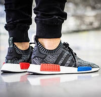 Кроссовки Adidas Originals NMD Runner Mottled Black and White мужские