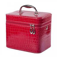 Набор бьюти-кейсов для косметики - CaseLife А-20-31 Розовый Лаковый - A20-31-PINK