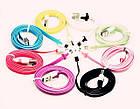 """Соединительный кабель USB """"лапша"""" - micro-USB / iPnone 4 / iPhone 5, фото 2"""